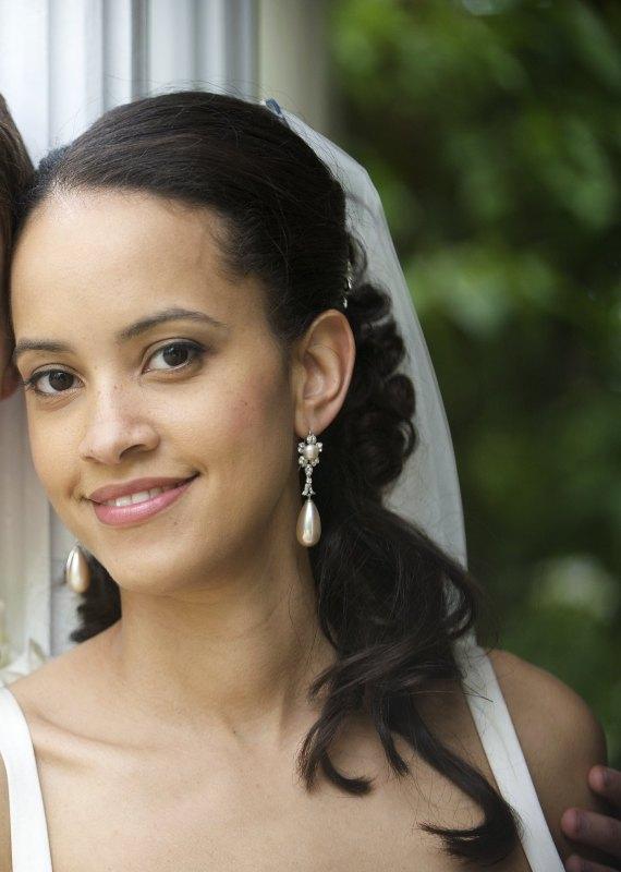 mixed race bridal make-up