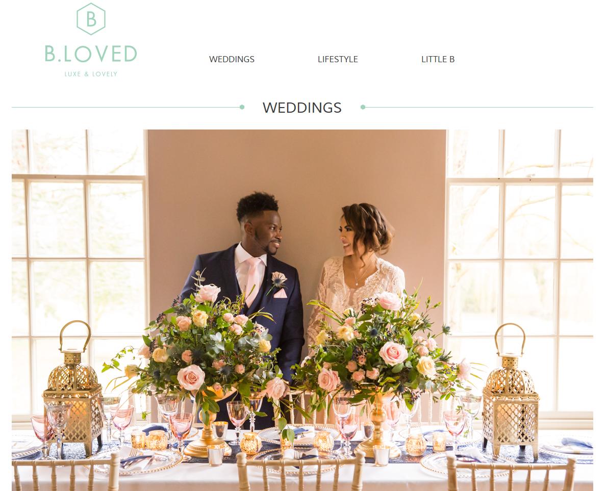 Luxurious Blush, Gold & Navy Wedding Inspiration