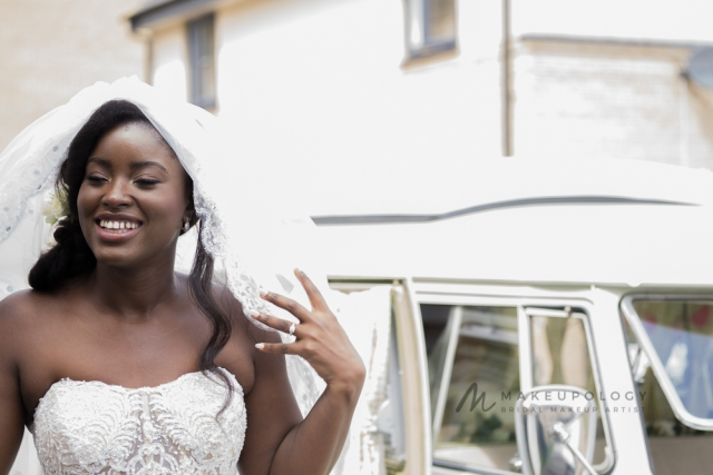 Bridal makeup artist for black skin in London.