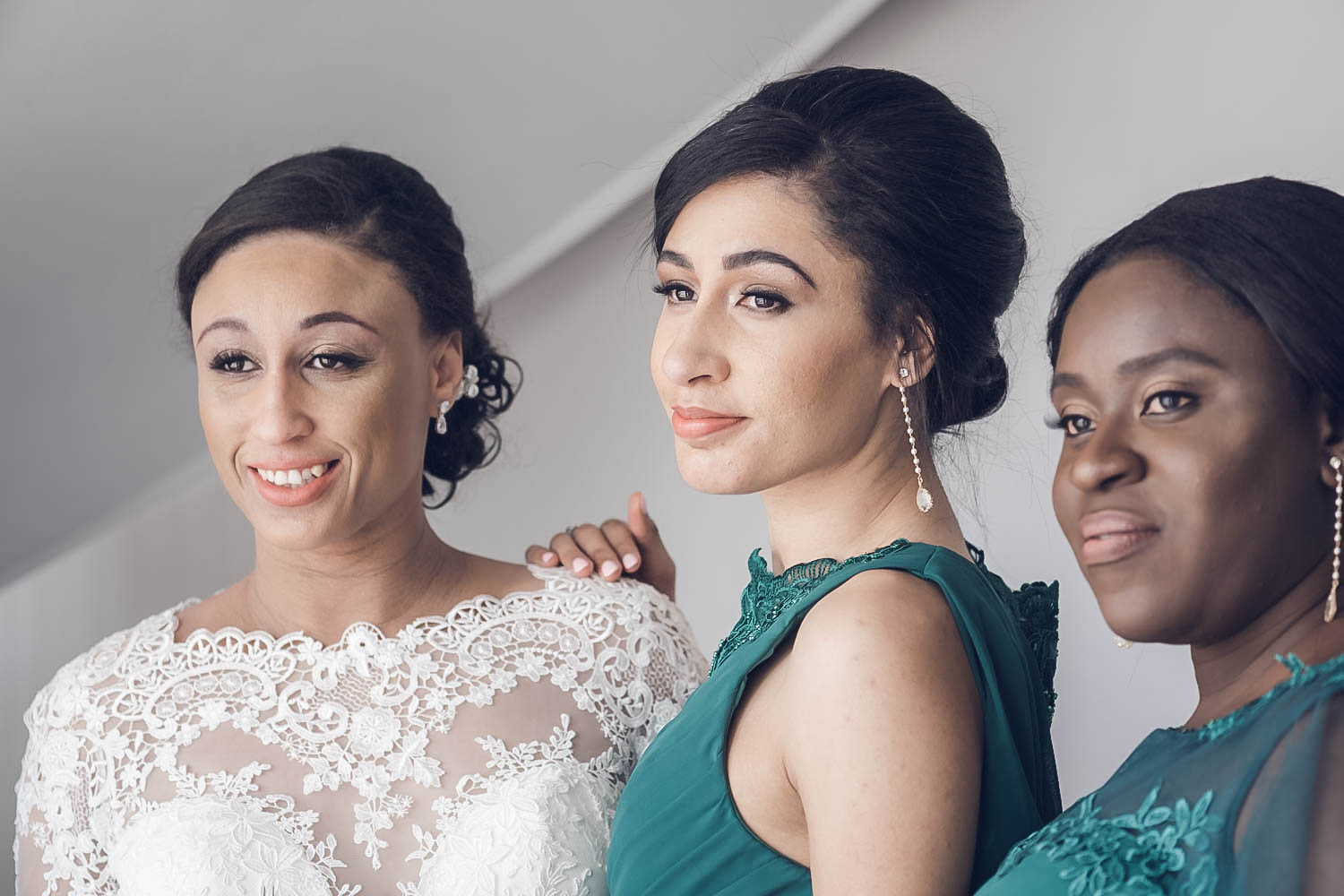 Bridal Makeup for Mixed Race Bride, Modina's Wedding Cooling Castle