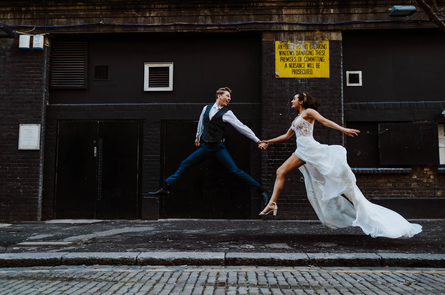 A beautiful urban wedding styled shoot at Islington Metal Works, London.