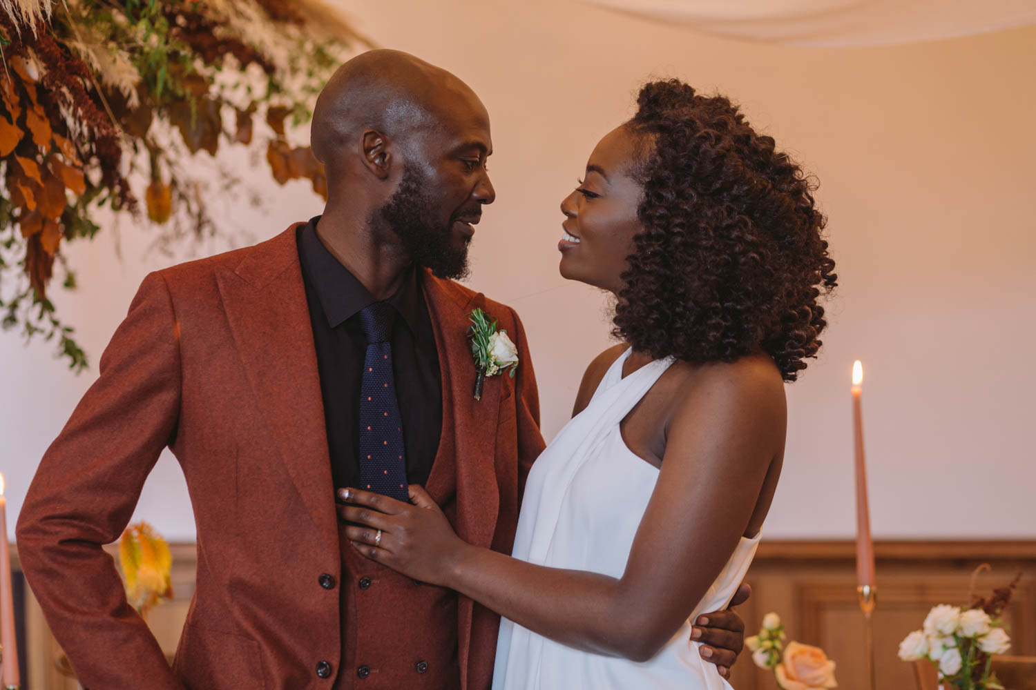 Modern & Intimate Black Wedding Inspiration in London – Real Couple