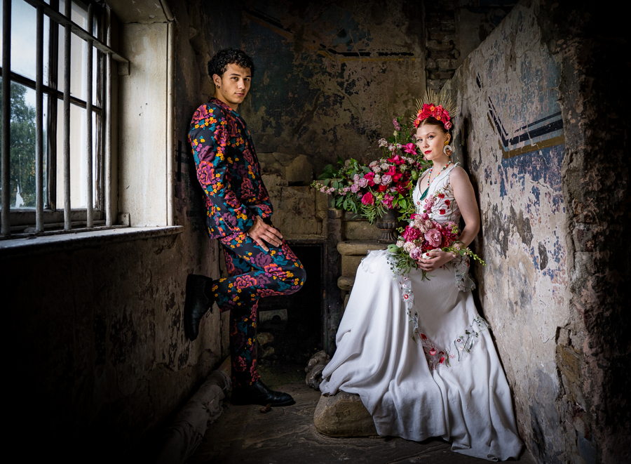 Colourful Alternative Wedding at Asylum Chapel