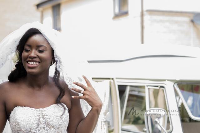 Bridal makeup artist for black skin in London.